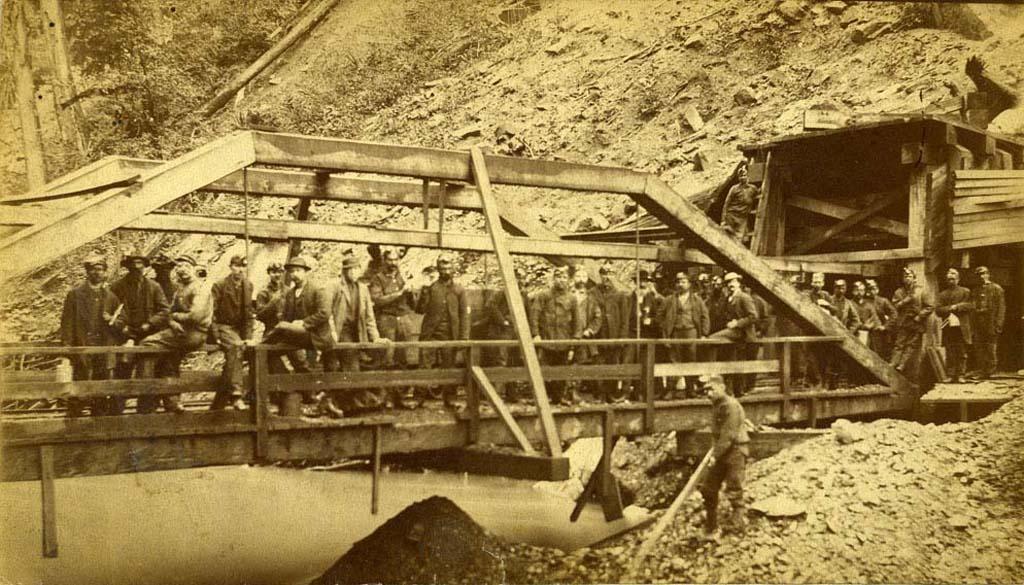 carbonado coal miners, 1885