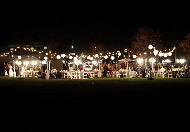 outdoor string bistro lighting
