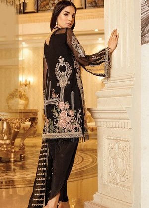 bd95c379aa Orignal Afrozeh Embroidered Chiffon Unstitched 3 Piece Suit MIDNIGHT JADE - Luxury  Collection Pakistani Designers