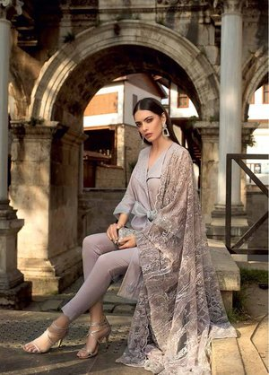 a0a5cf4c90 Gul Ahmed Embroidered Jacquard Unstitched 3 Piece Suit 19E FE-227 - Eid  Collection