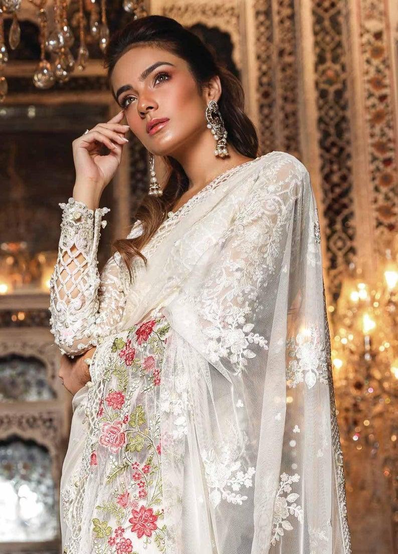 Details about  /Readymade Collection Pakistani Maria B Designer Wedding Dress Salwar Kameez Suit