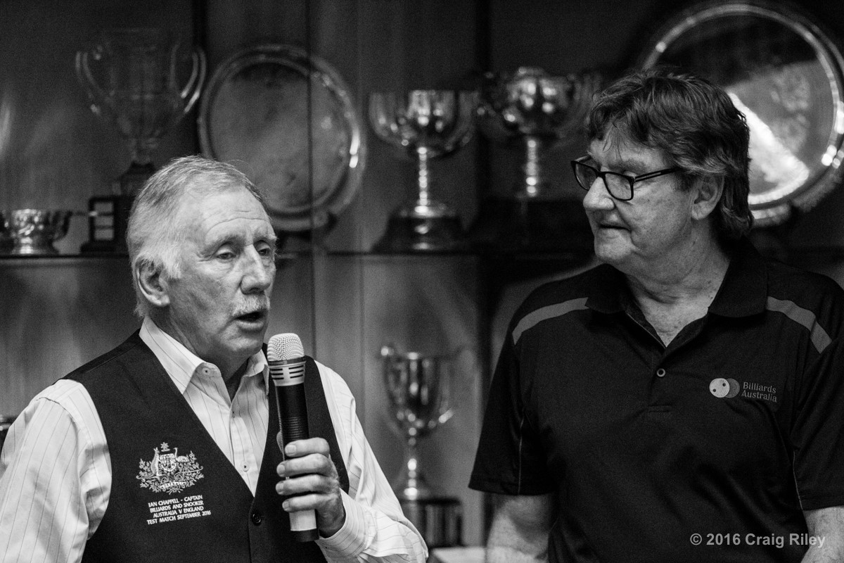 Jason Colebrook with Ian Chappell