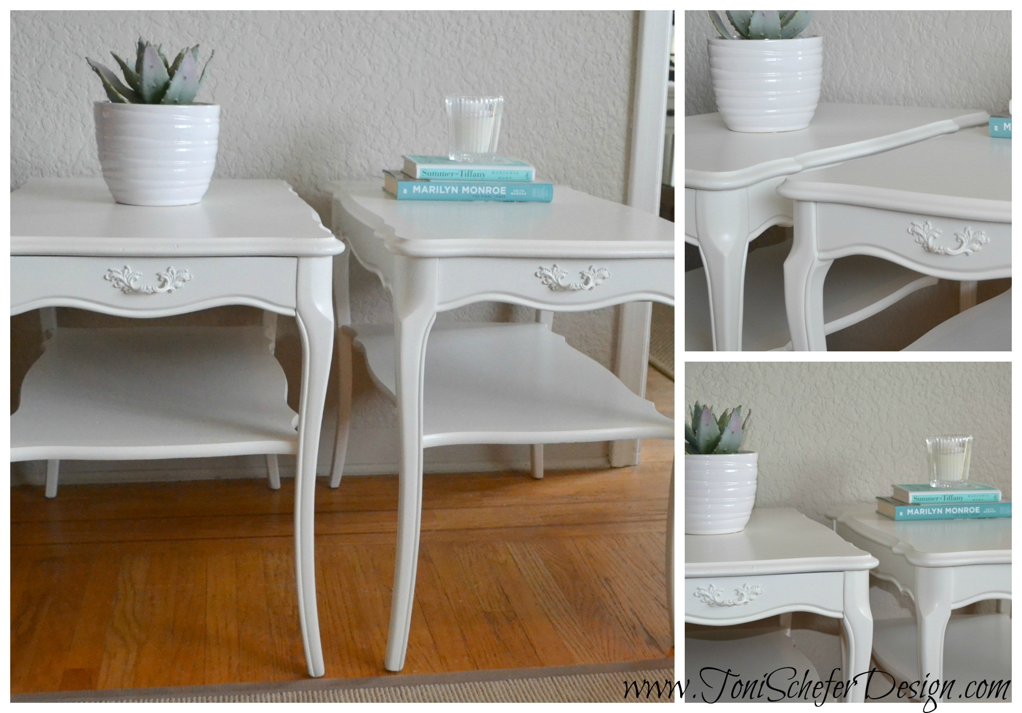 Two more little side tables that turned out super cute.