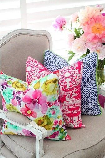 1. Change your throw pillows   I love pillow covers and changing them to something bright and cheery for spring is the easiest and affordable way to brighten up your décor. I usually purchase my pillow covers from  Etsy . There are thousands of shops and fabrics to choose from and it's less expensive and easier than purchasing fabric and having them made for you.