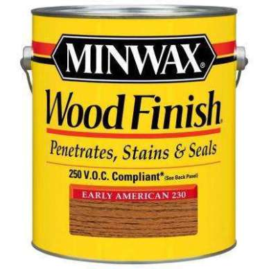 The first layer was  Minwax Early American Stain