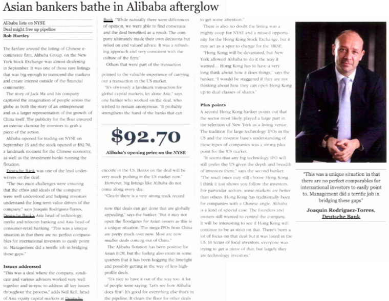 2014.10.01 - EuroMoney - Asian Bankers Bathe in Alibaba Afterglow.png