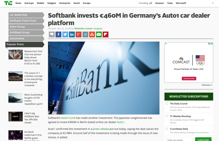 2018.01.19 - Tech Crunch Softbank Invests 460M.png
