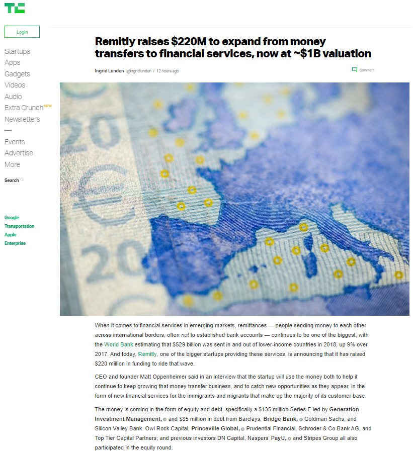 2019.07.10 - Remitly raises $220M.png