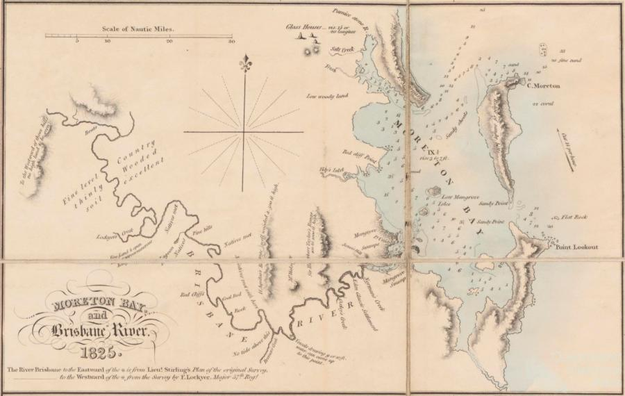 1825 map of Moreton Bay and Brisbane River.jpg