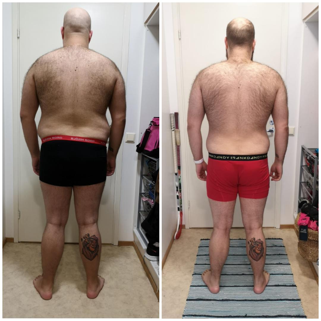 Mies 29v elämäntaparemontti 4kk muutos -12kg. Homma jatkuu..
