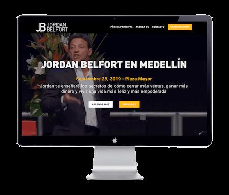 Jordan Belfort / Wolf of Wall Street - Website Portfolio - Keegan Wozniak