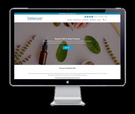 Beleave CBD - Website Portfolio - Keegan Wozniak