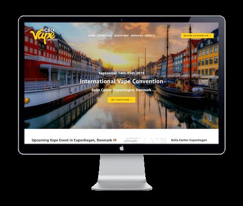 Vape Scandinavia Expo - Website Portfolio - Keegan Wozniak