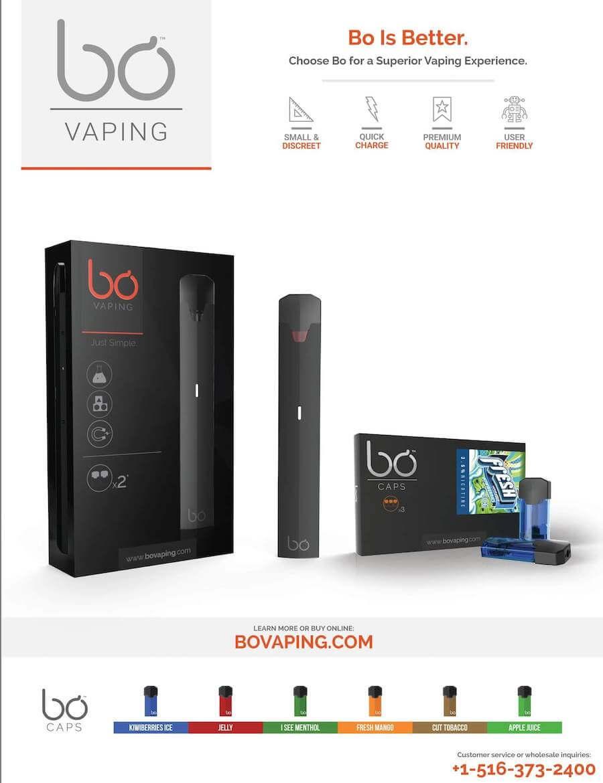 BO Vaping Magazine Advertisment - Artwork Portfolio - Keegan Wozniak