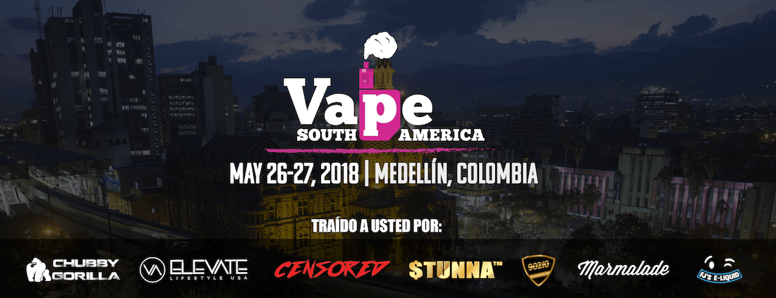 Vape South America Expo 2018 Banner - Artwork Portfolio - Keegan Wozniak