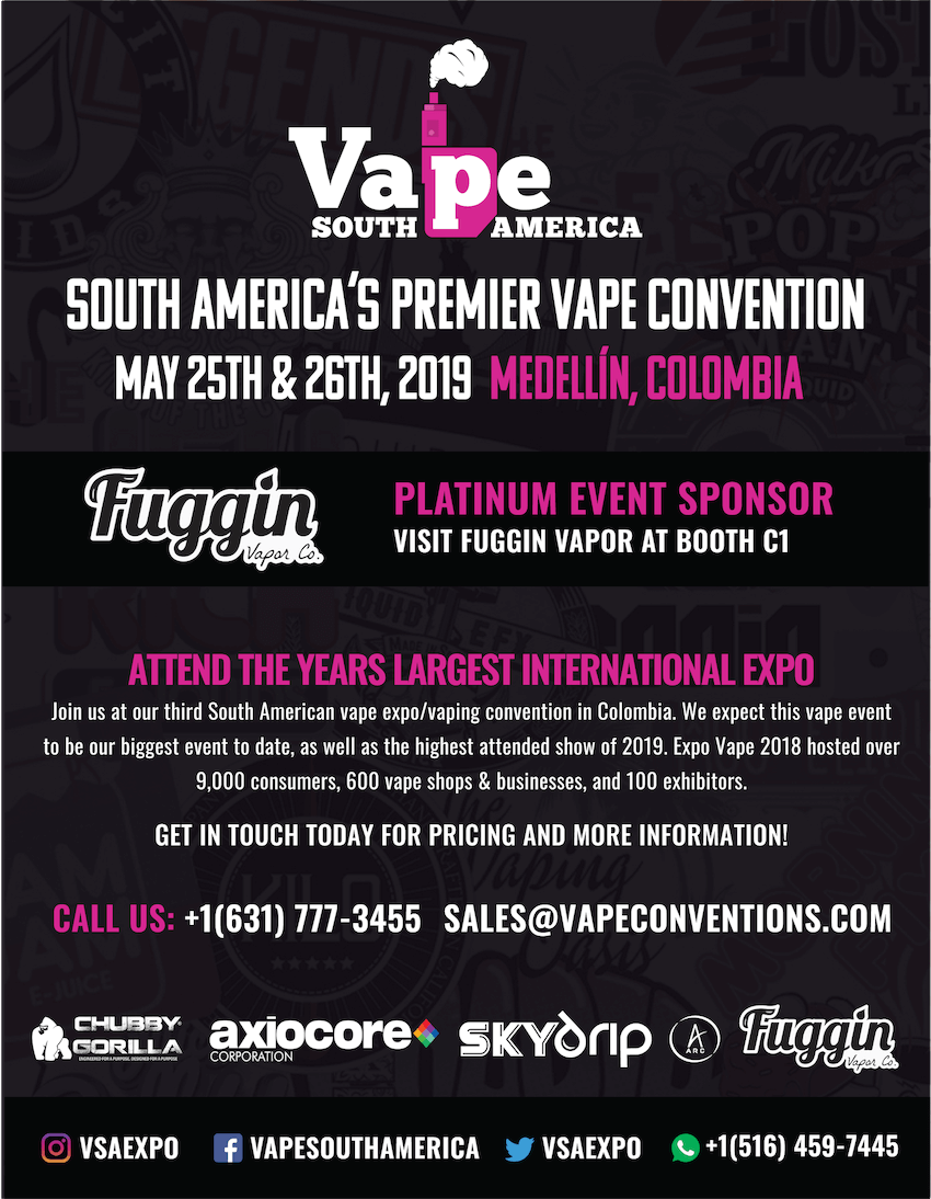 Vape South America 2019 Magazine Ad - Artwork Portfolio - Keegan Wozniak