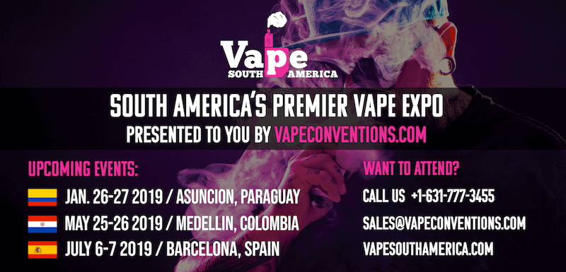 Vape South America Paraguay 2019 Banner - Artwork Portfolio - Keegan Wozniak