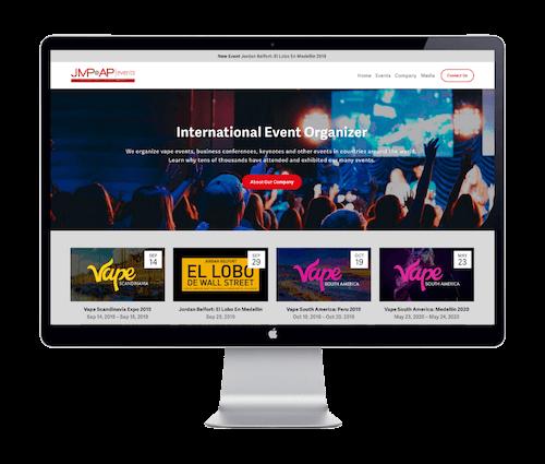 JMP & ZB Events - JMP & AP Events - Website Portfolio - Keegan Wozniak