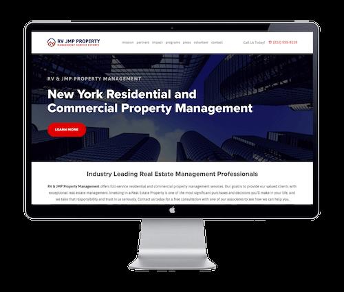 RV & JMP Property Management / Real Estate - Website Portfolio - Keegan Wozniak