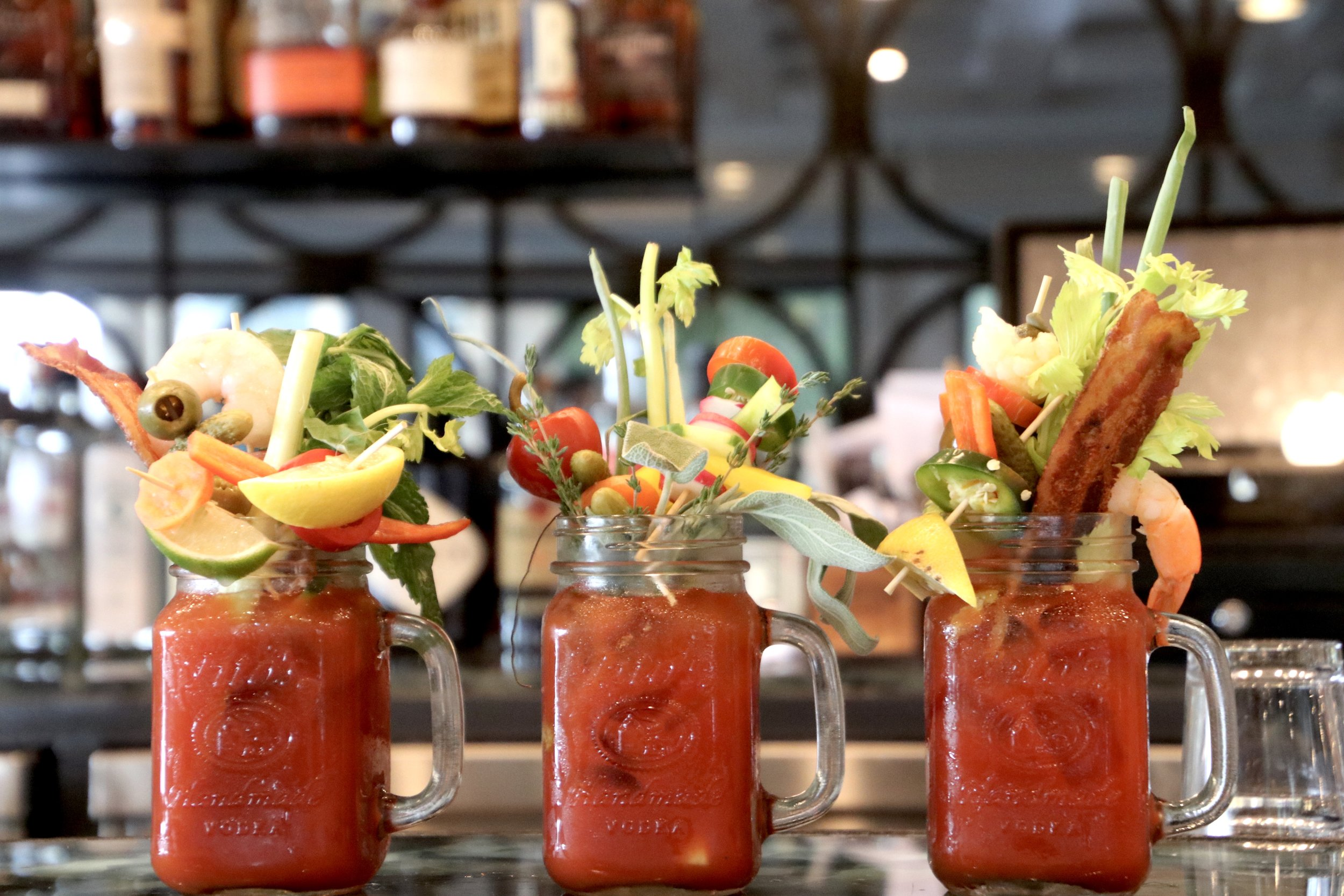 Best Bloody Marys  Image property of Jessica Gordon Ryan (Pearl at Longshore's Build your own Bloody Mary bar)