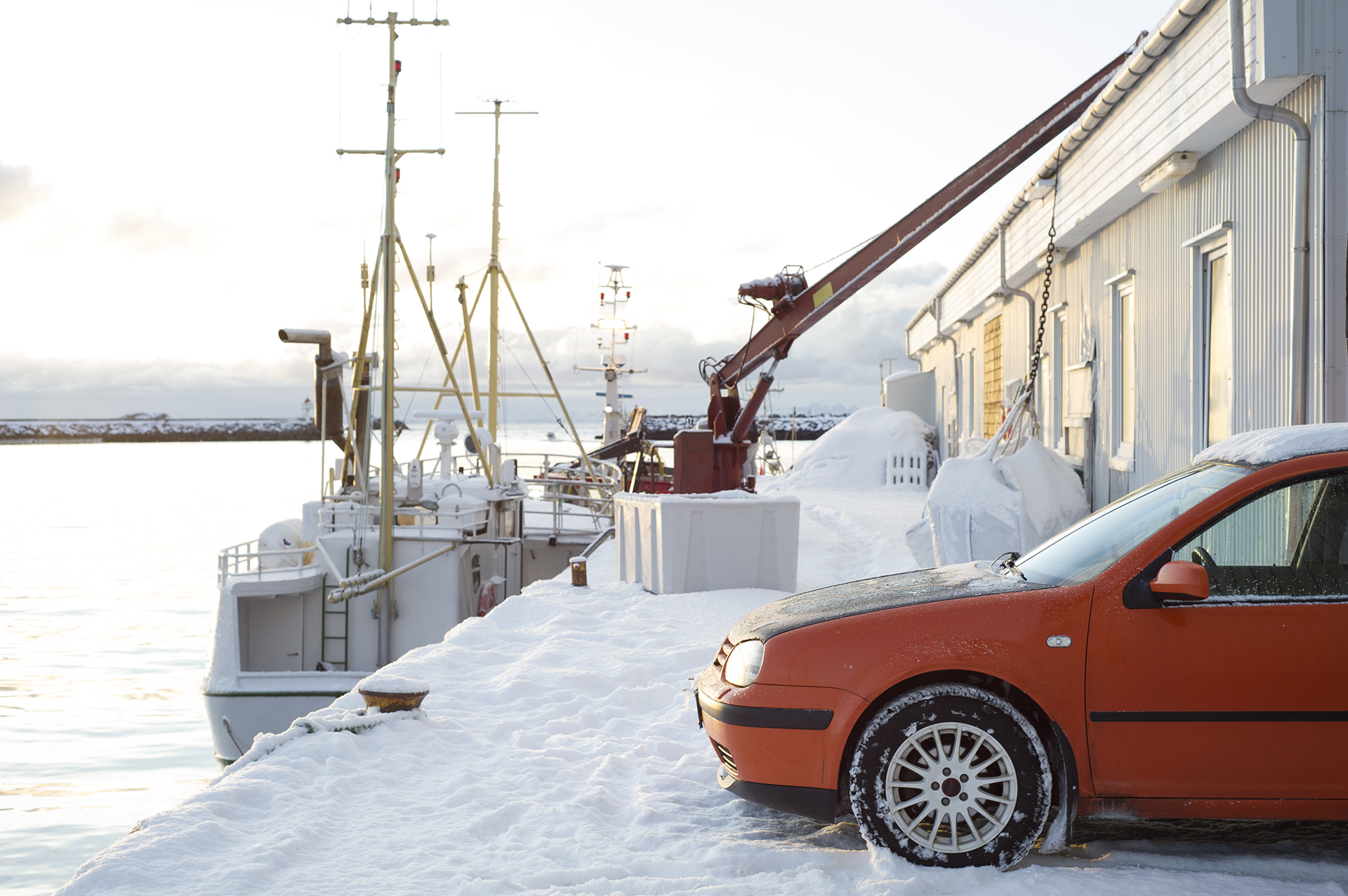 A fishermans´s car. Ballstad in Lofoten.