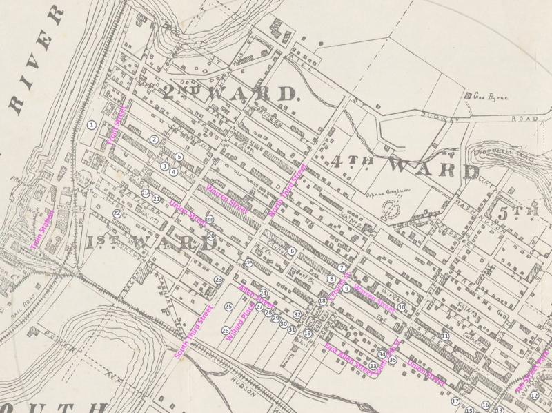 MAP COURTESY: sTORY OF HUDSON