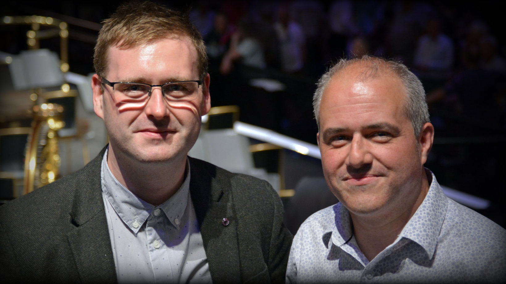 Shea Lolin (left) and Christopher Hussey (right) at the First Night of the 2015 BBC Proms.