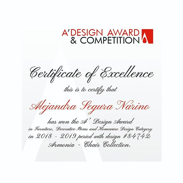 This certificate is a recognition of the dedication and the valuable role the Designer plays in building brighter futures by continued the creation of Good Design work. It also represents the gratitud for making the world a better place with original and innovative designs that create value for the society.