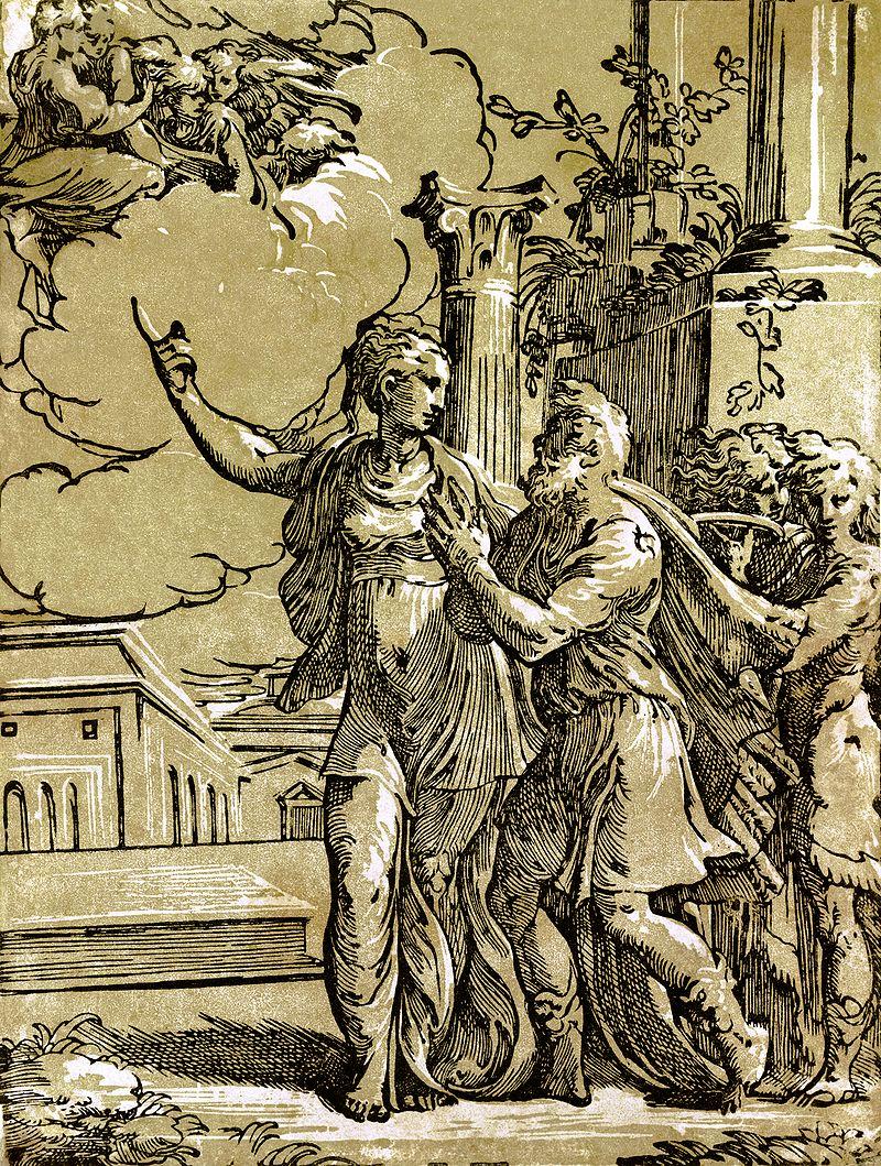Antonio da Trento A tiburi Sibylla találkozása Augustussal.jpg
