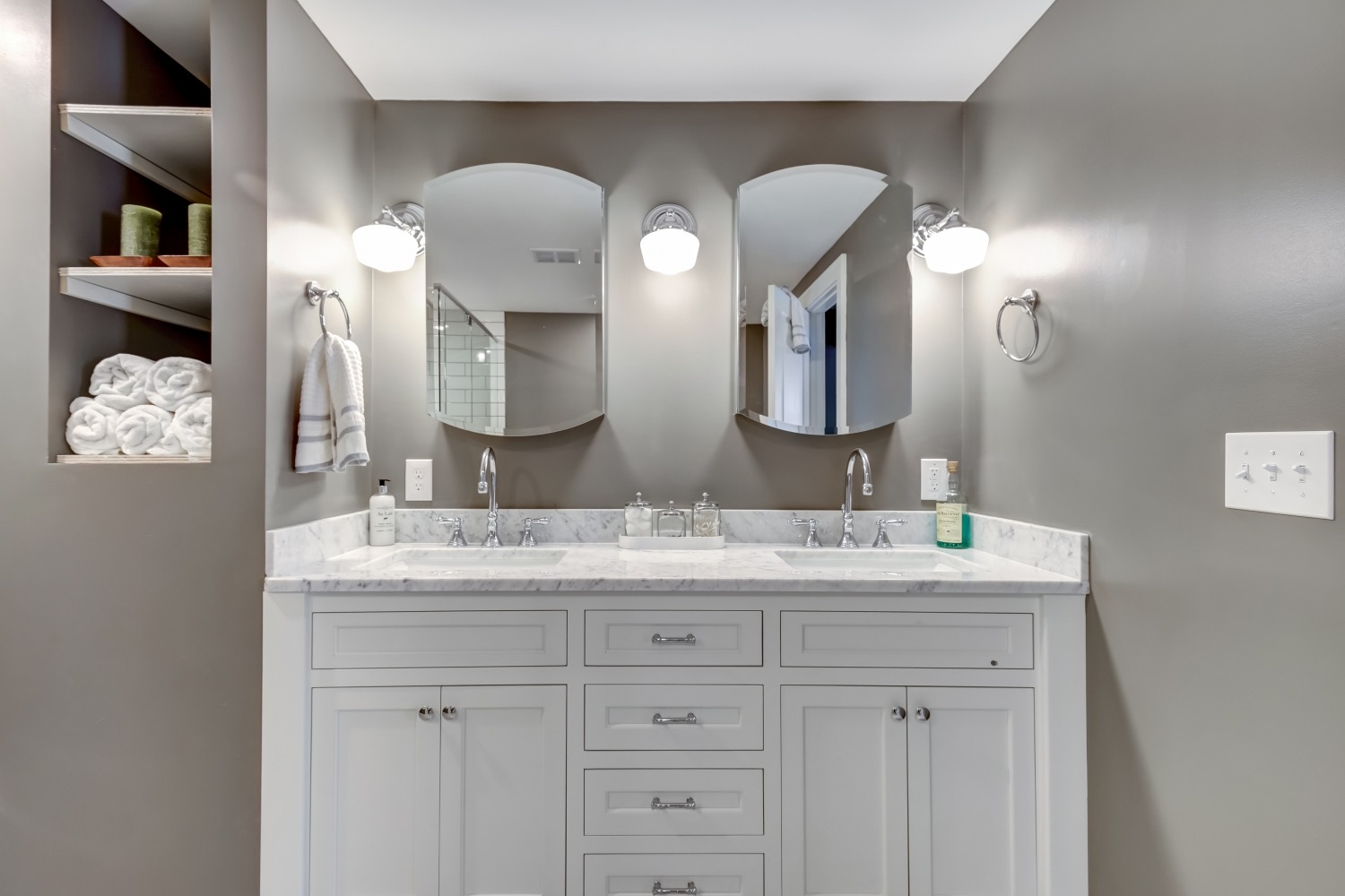 Custom Cabinets For Bathrooms Fine Line Mn Woodworking