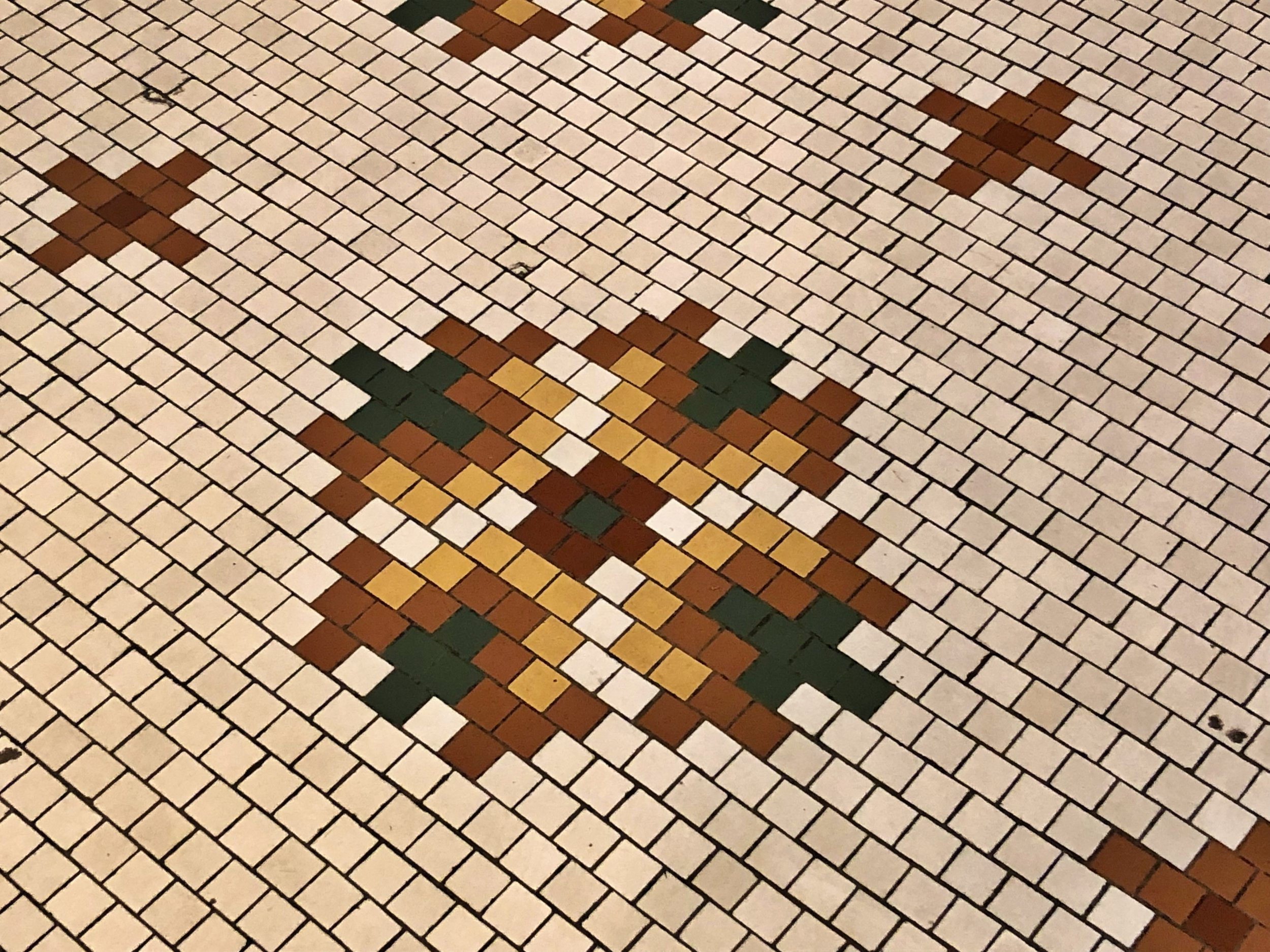 Original Italian tile floors throughout the museum