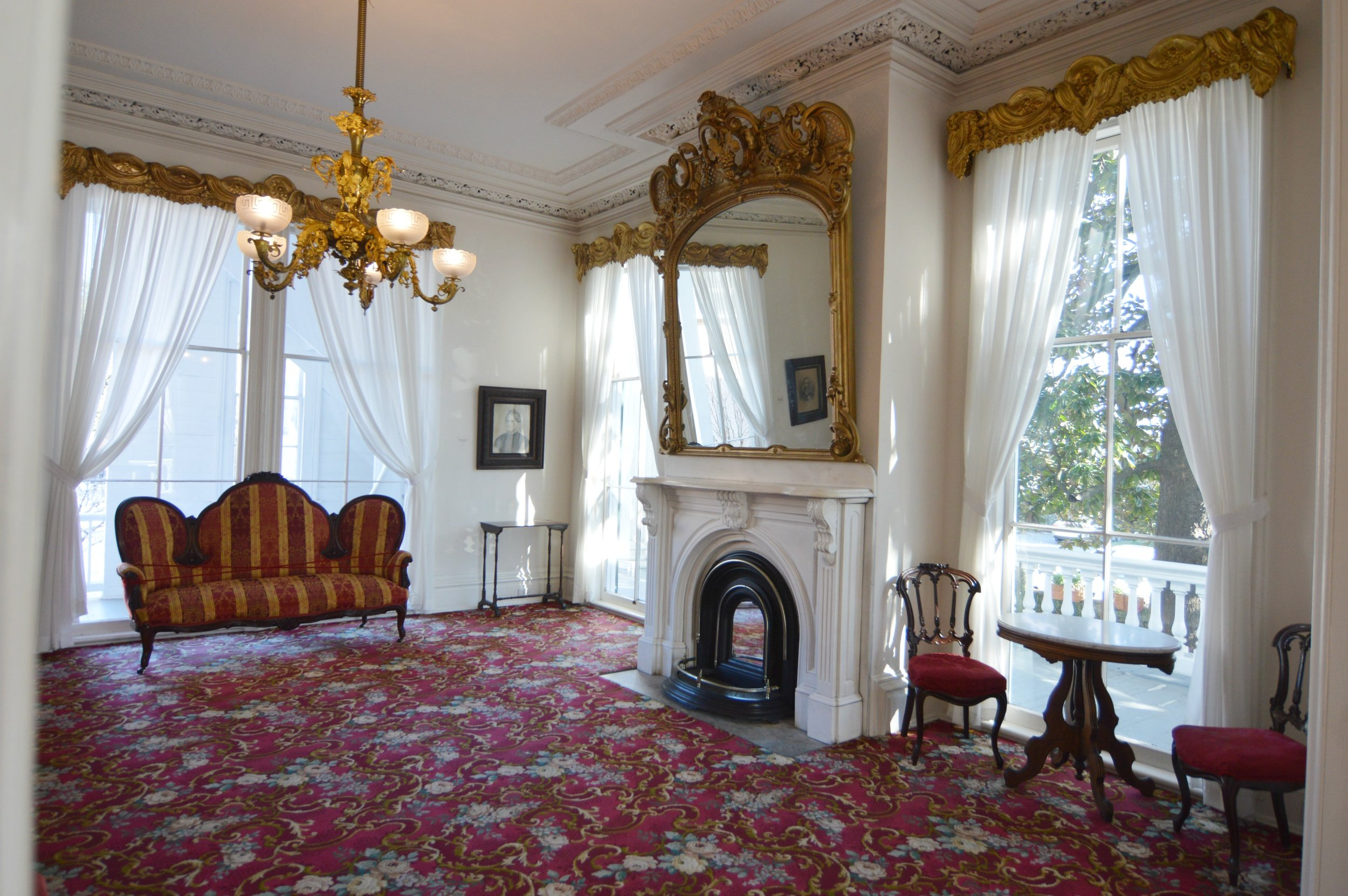 The parlor … Courtesy of Bellamy Mansion Museum of History and Design Arts