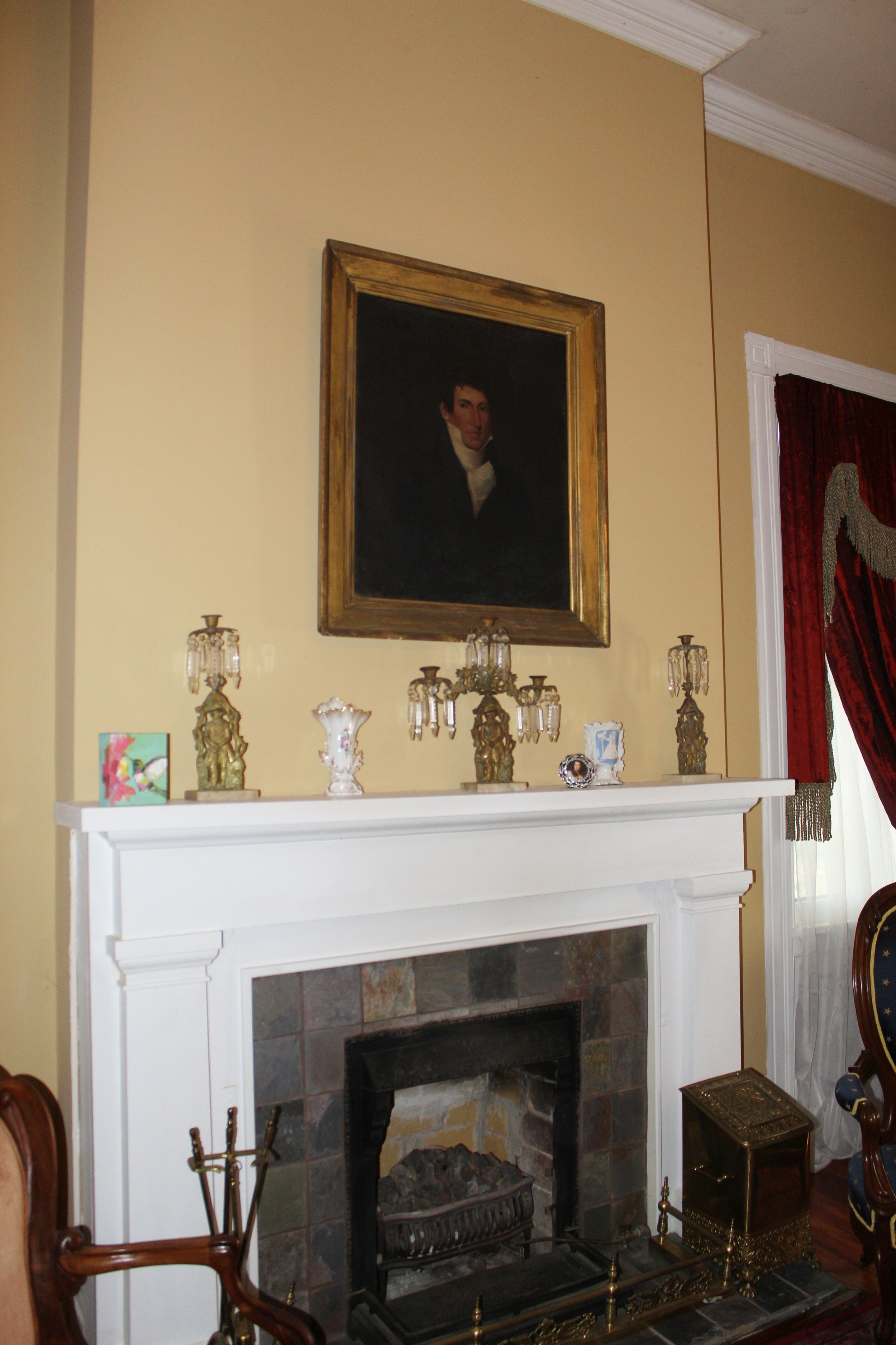 mantel in Sunset Manor
