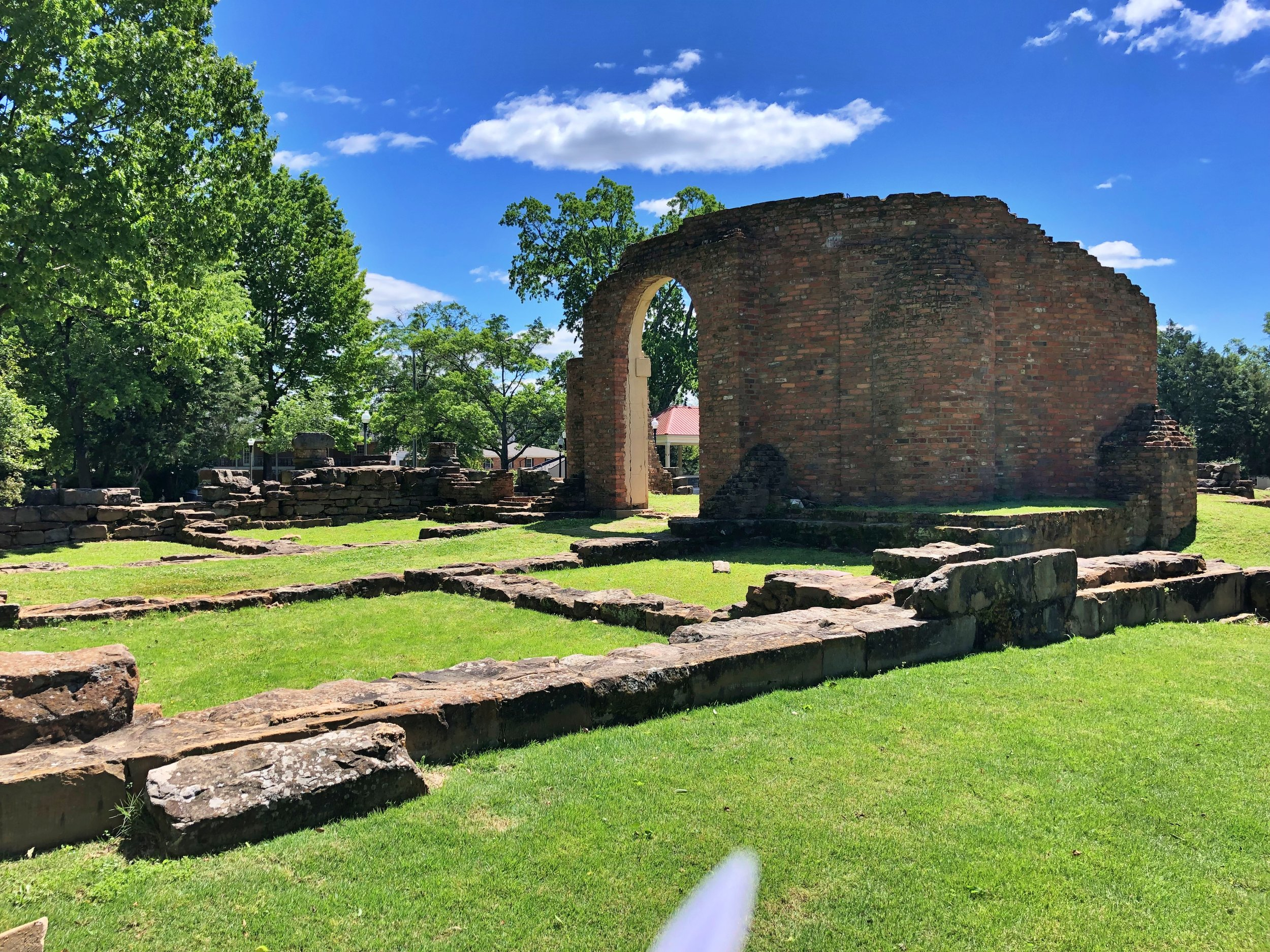 Ruins of the old state capitol built in 1826 … Tuscaloosa, Alabama … Photo by Caroline Pugh