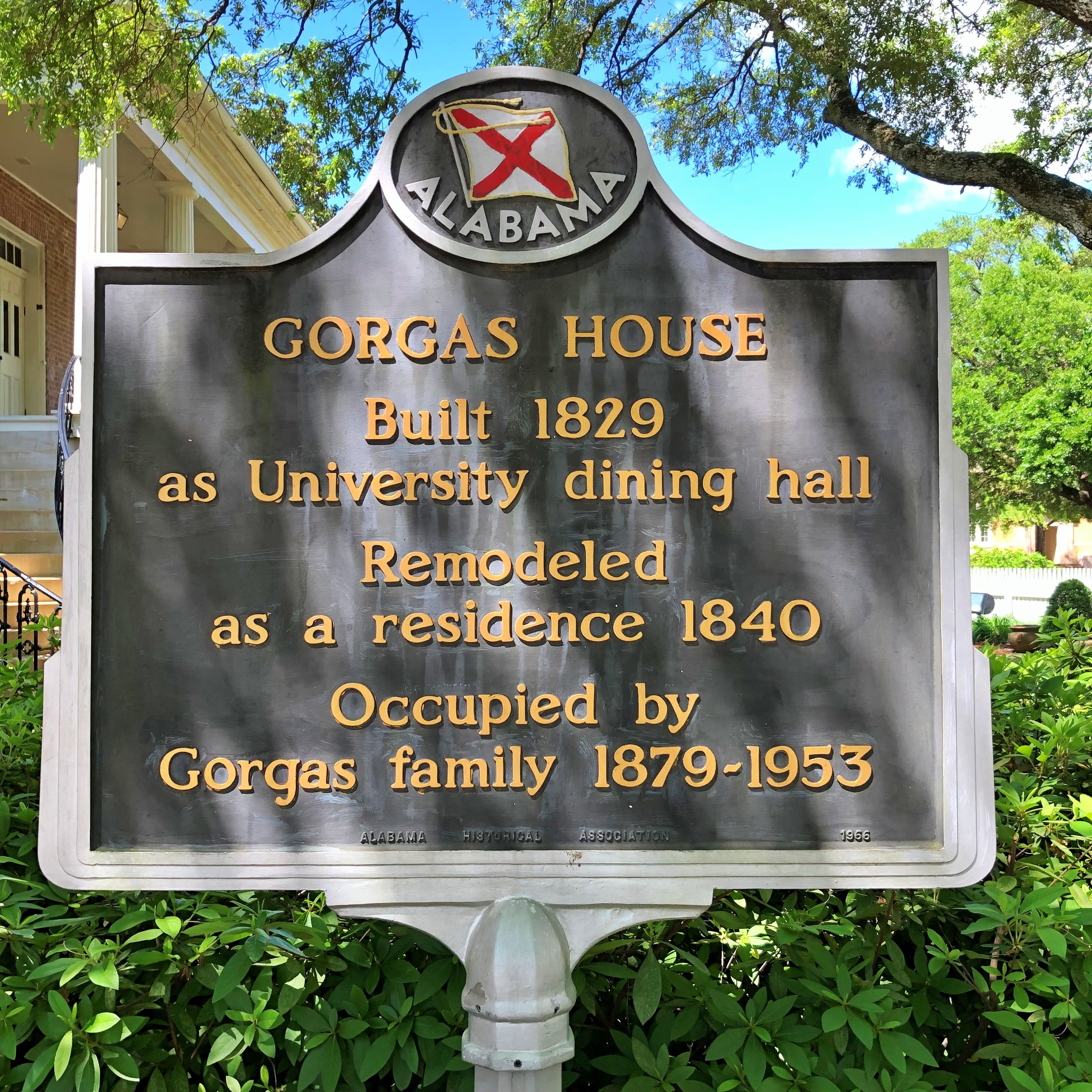 Gorgas House Marker, Univ of AL … Photo by Caroline Pugh