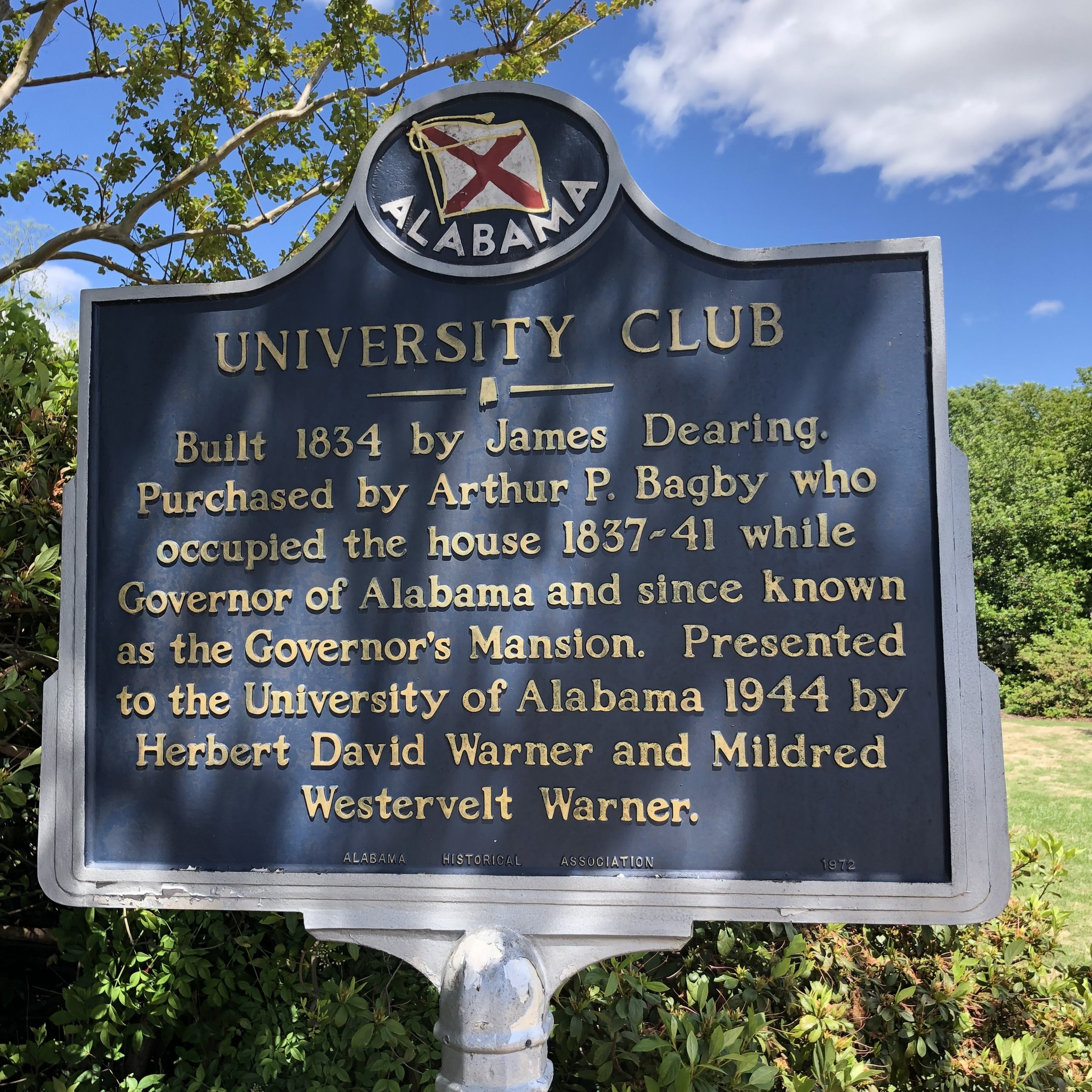 University Club Marker, Univ of AL … Photo by Caroline Pugh