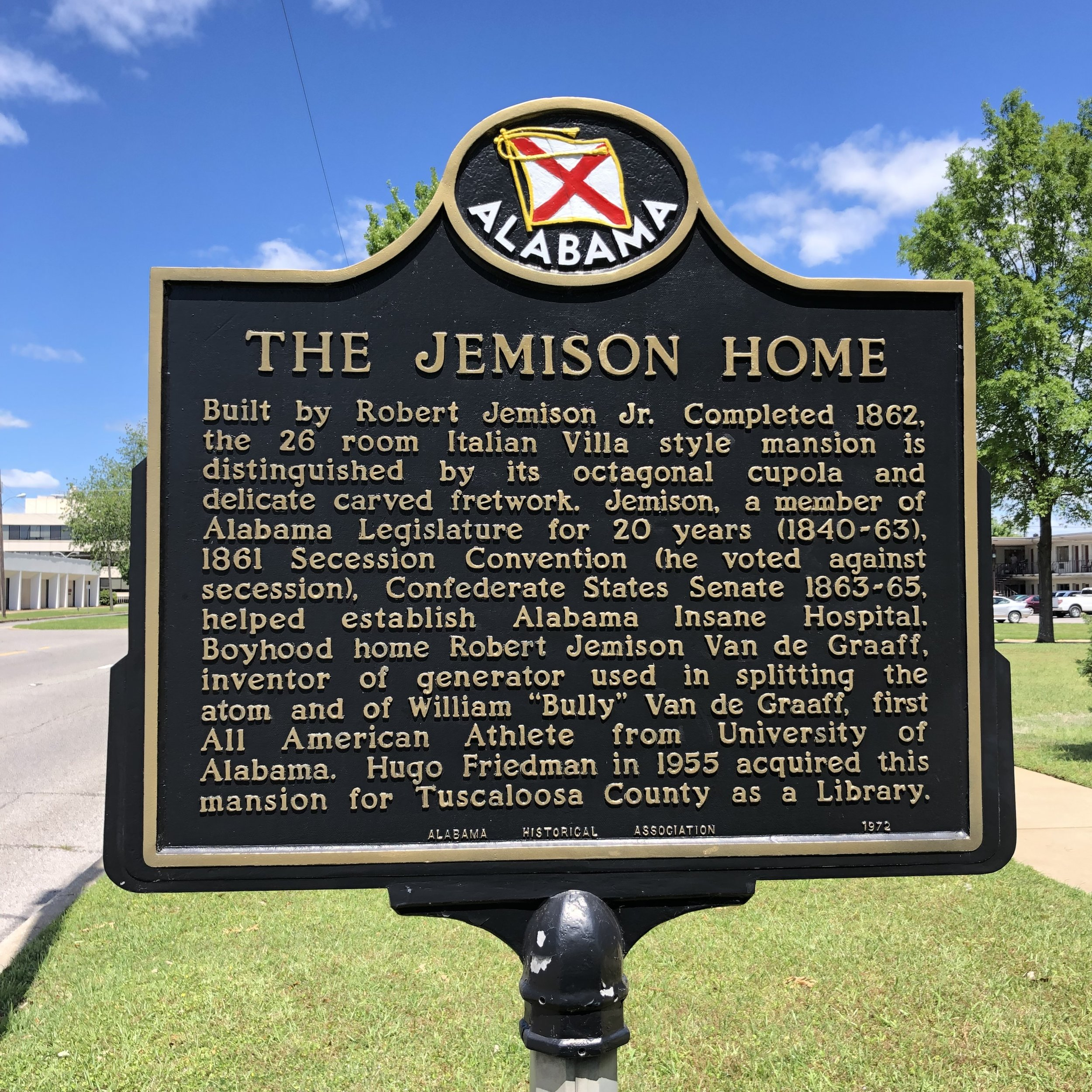 Jemison Home Marker, Tuscaloosa, AL … Photo by Caroline Pugh