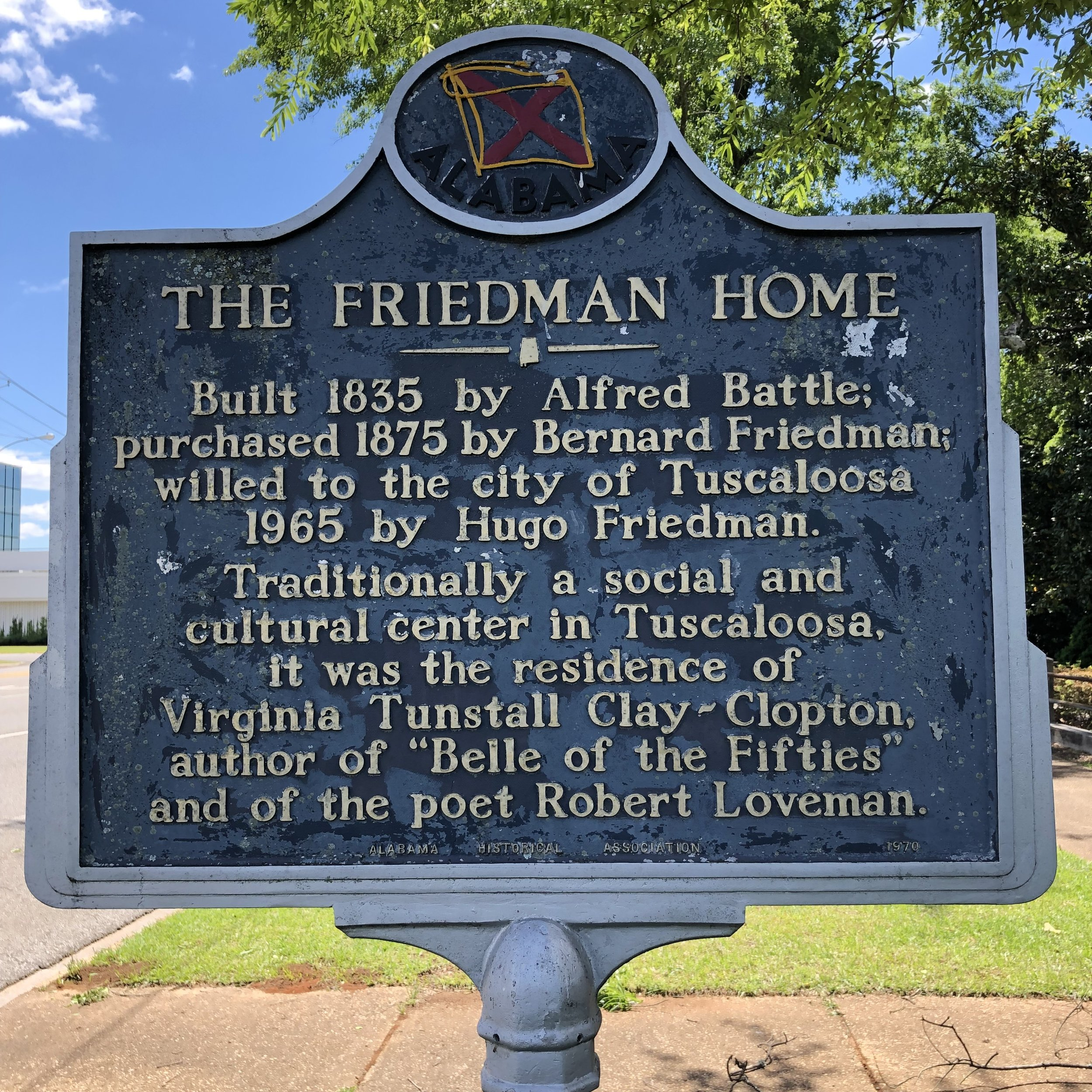 The Friedman Home Marker … Photo by Caroline Pugh