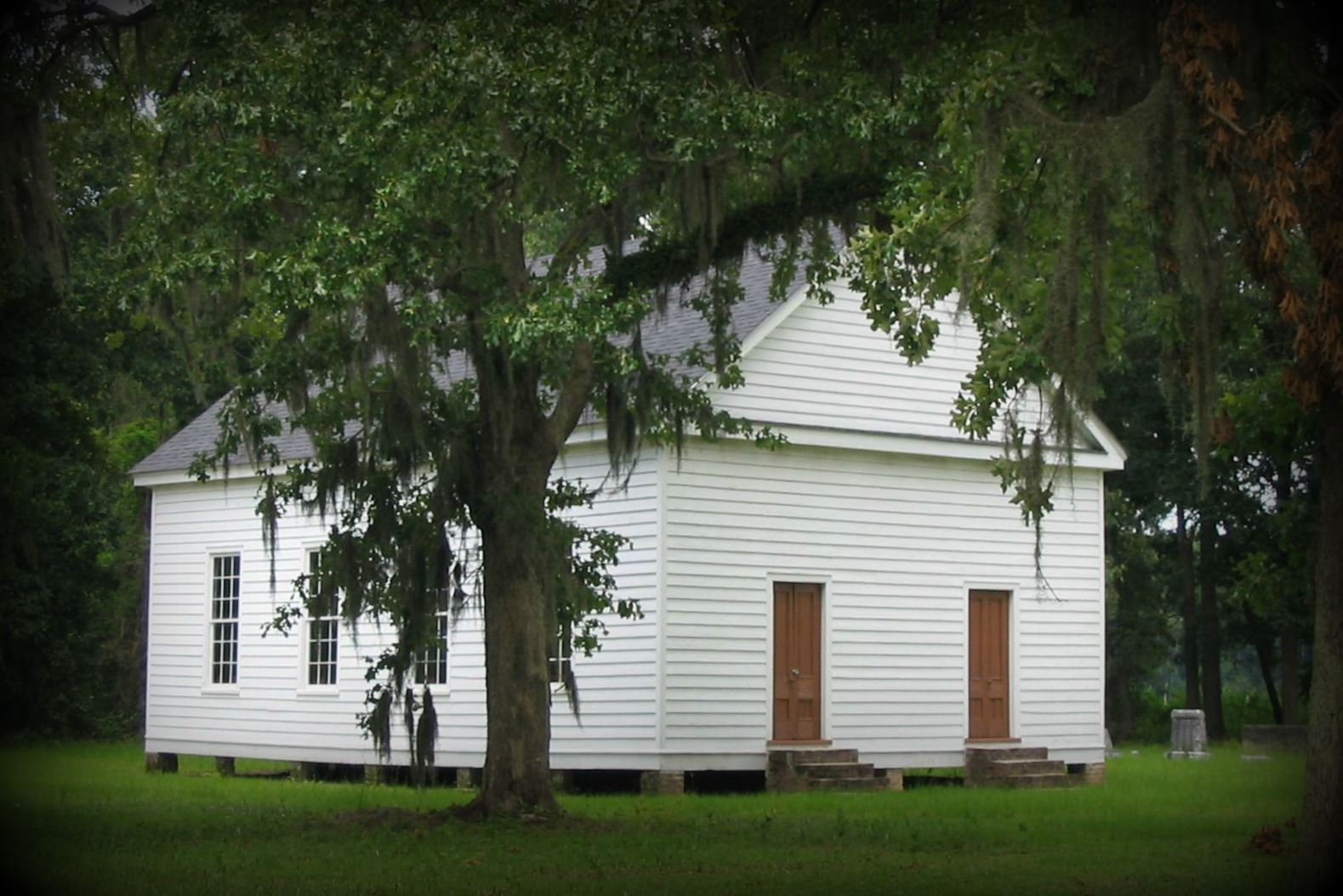 Appleby Methodist Church, built 1840s. St. George, South Carolina, founded by the ancestors of this blog's author.