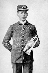 W.C. Handy, age 19. By uploaded to Wikipedia by Mink Butler Davenport - the English language Wikipedia (log), Public Domain