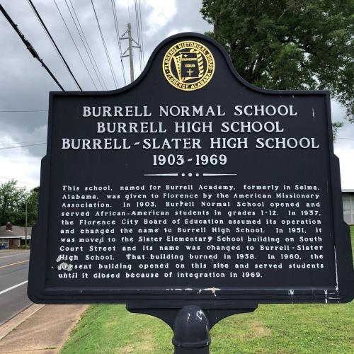Burrell Normal School Marker, Florence, AL.JPG
