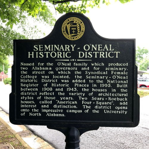 Seminary-ONeal Historic District Marker, Florence, AL.JPG