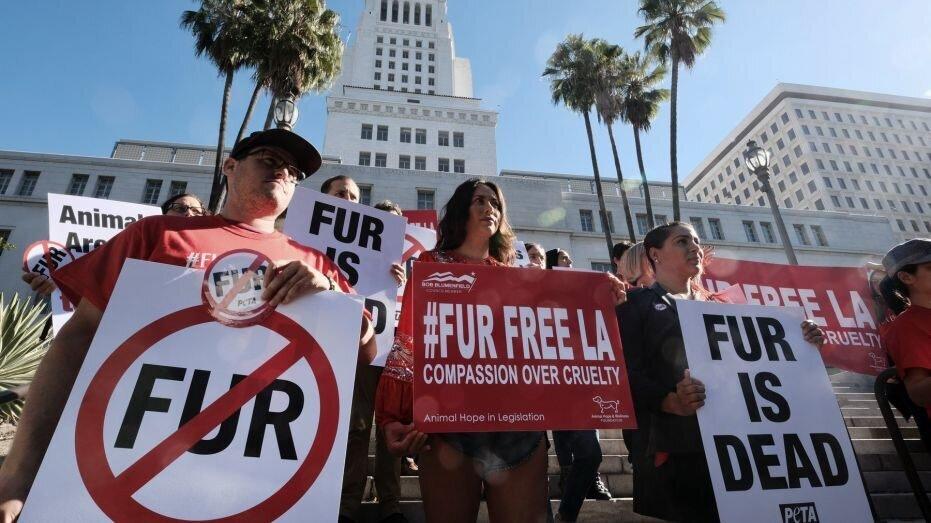 California bans fur.
