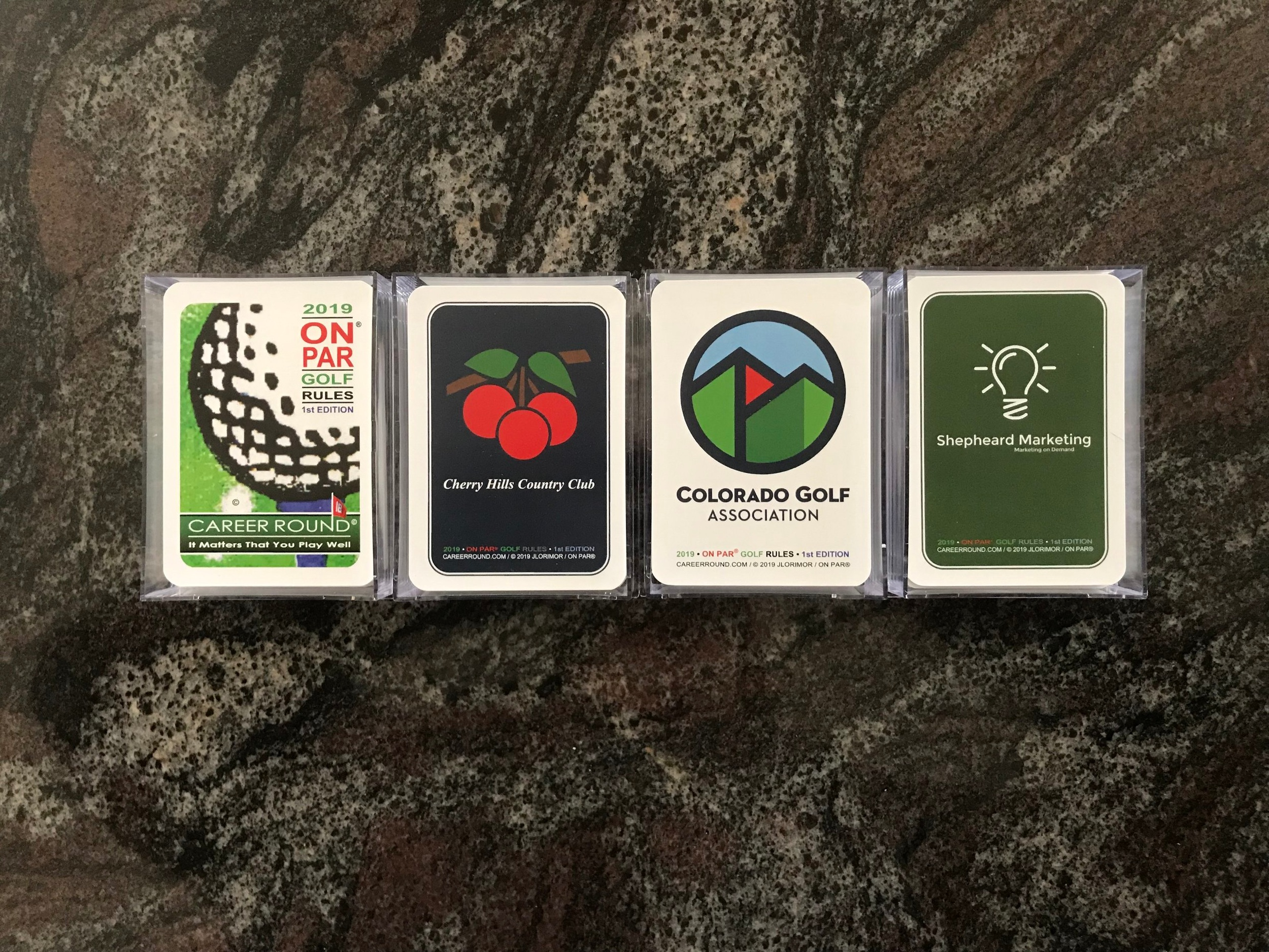 Customize our cards for your club, business, family reunion, tournament or event with your own image or logo. Decks are securely packaged in sturdy transparent plastic box for visibility and easy distribution.