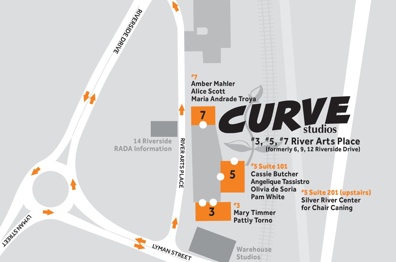 River Arts District Asheville Map Curve Studios