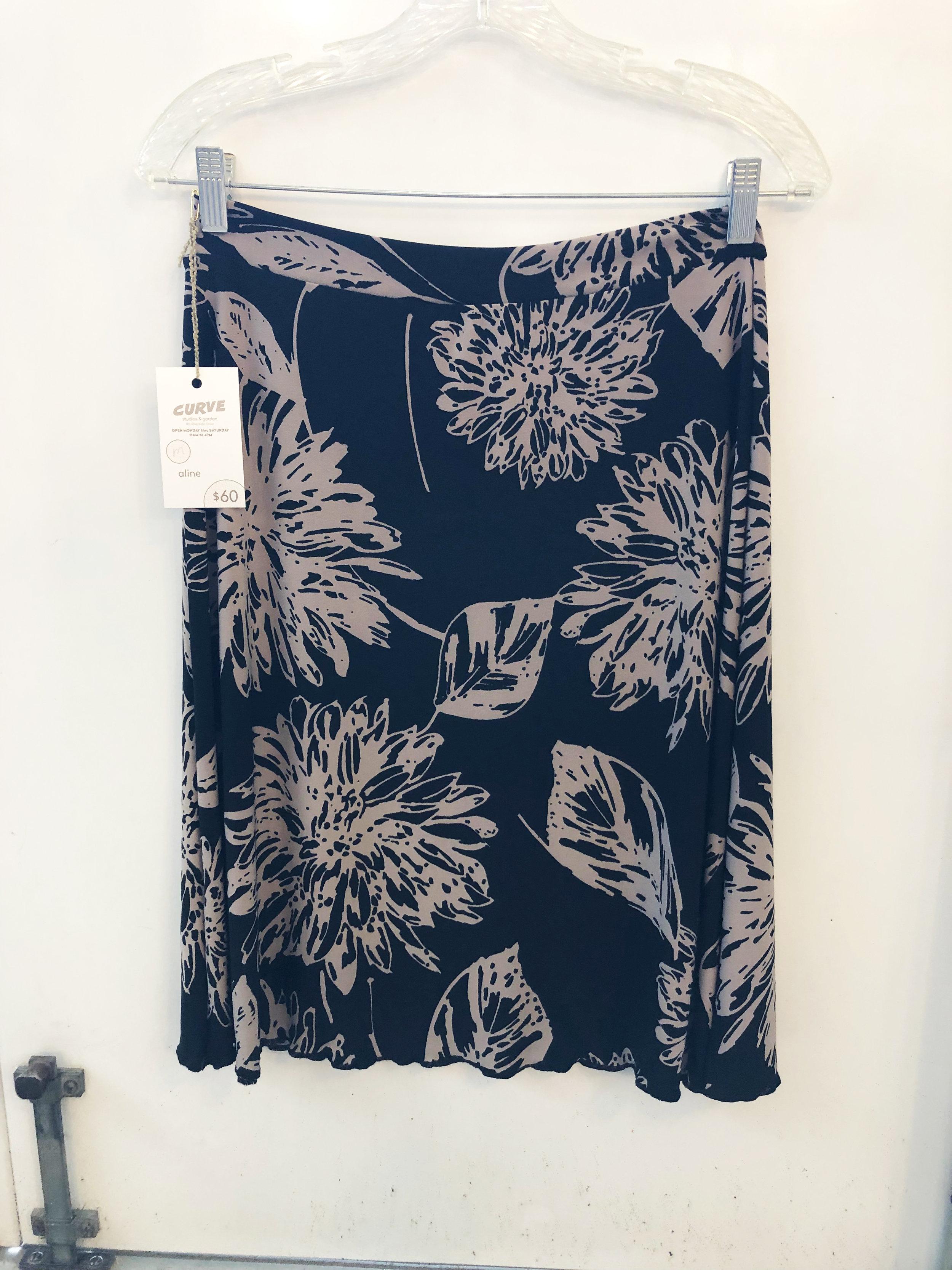 pattiy torno @ CURVE Aline skirt balck tan chrysanthemum ity 2019.jpg