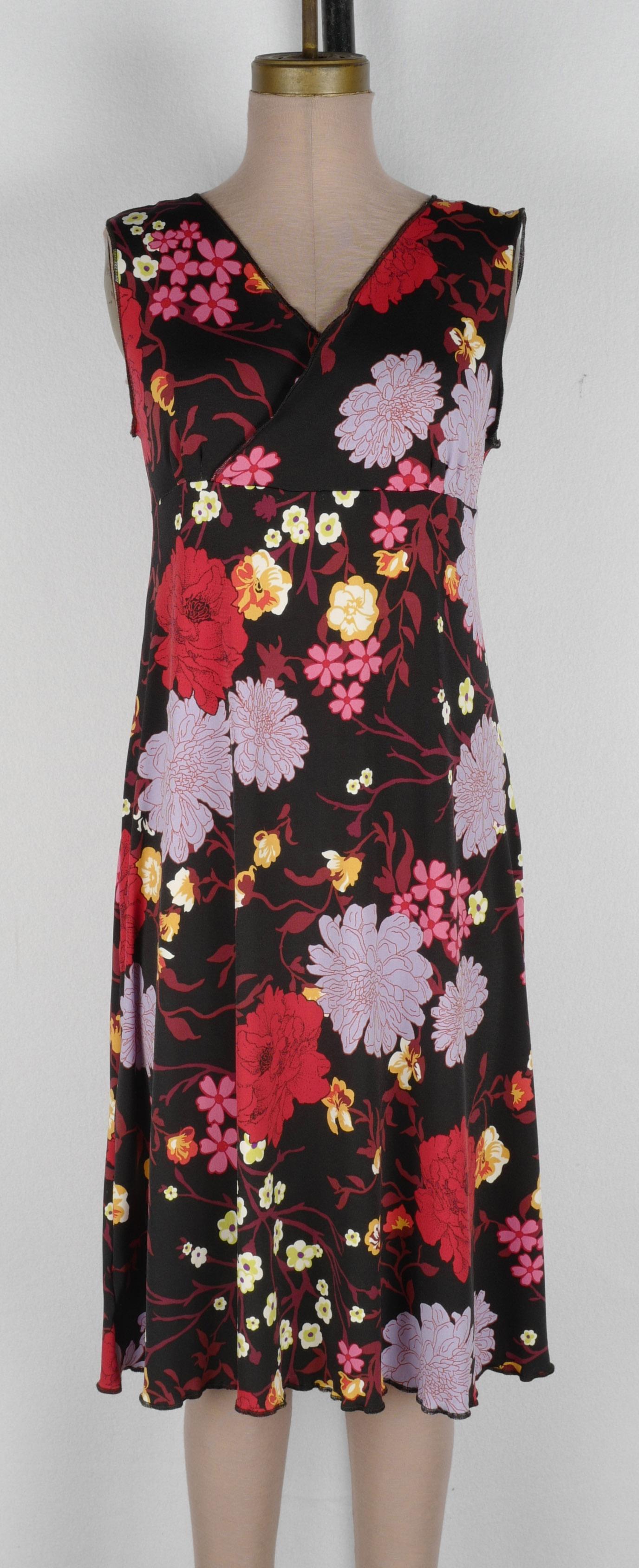 Black Red Lavender Floral Wrap Dress 2019 cropped.jpg