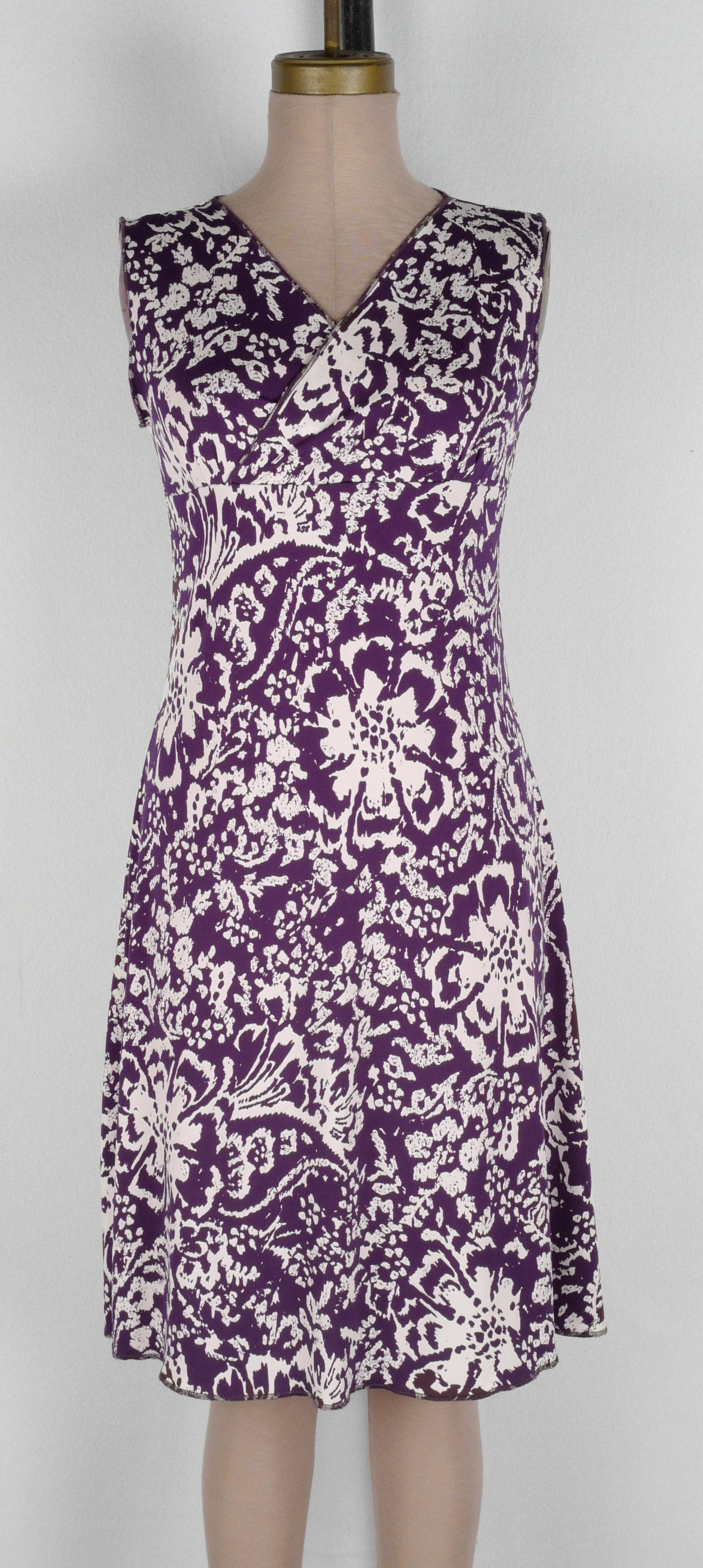 White Purple Persian Floral Wrap Dress 2019 cropped.jpg