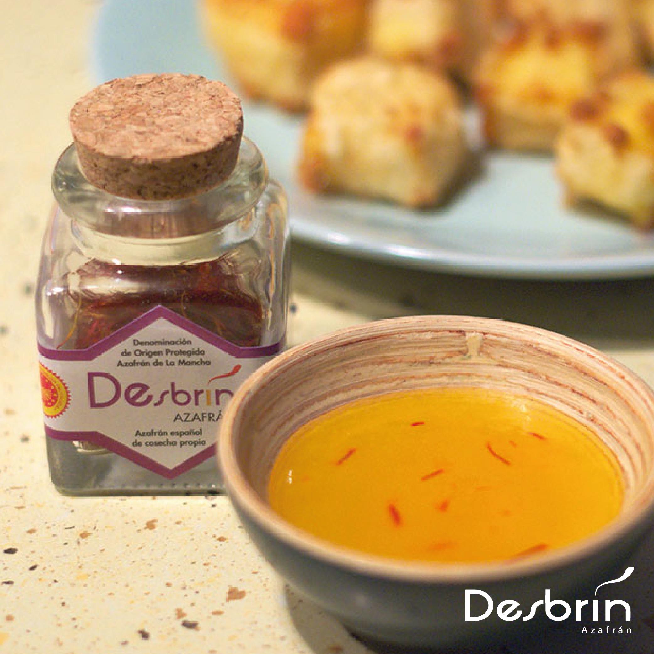 Tempura de queso con Azafrán