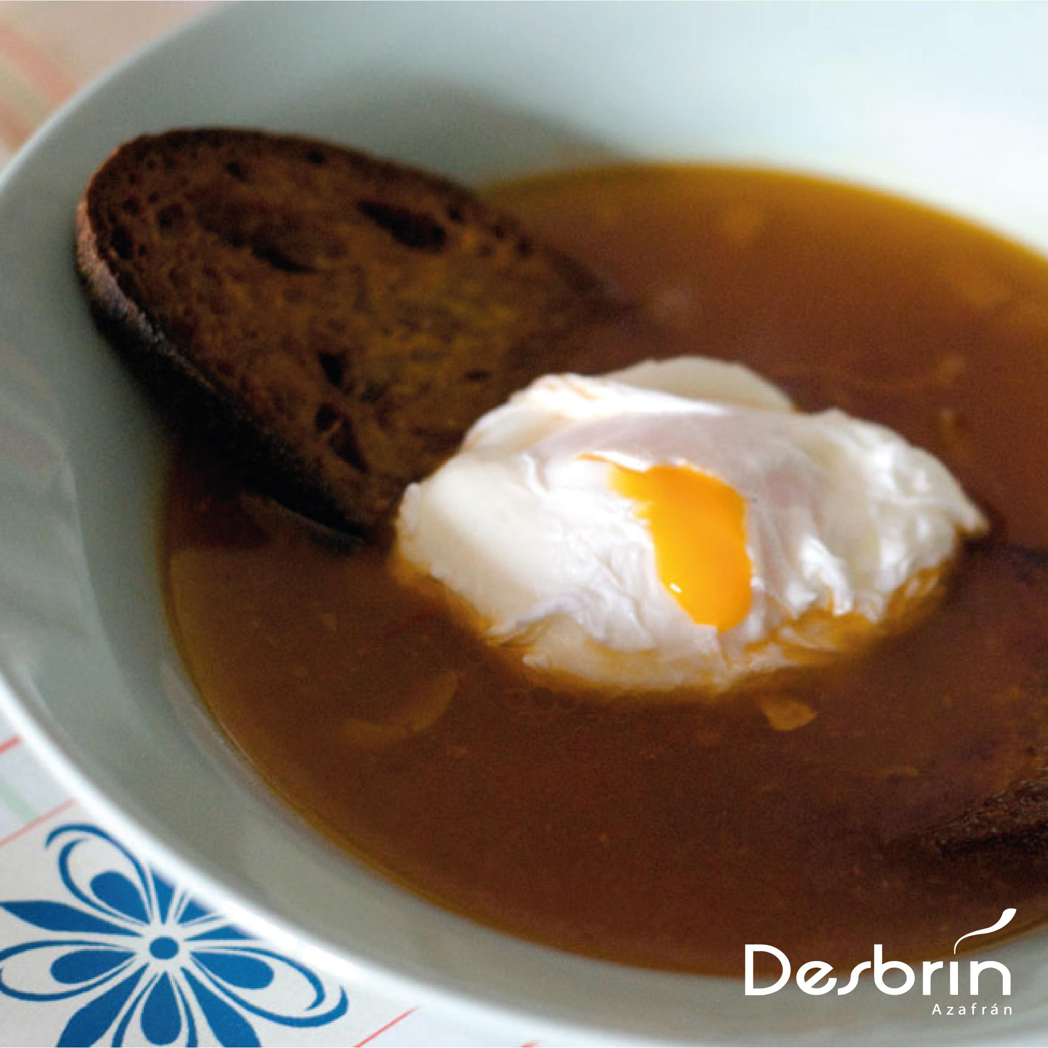 Sopa de ajo con azafrán Desbrín